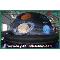 Quality 210 D Oxford Cloth And Projection Inflatable Planetarium Dome Black Color for sale