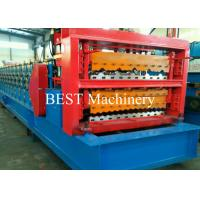 Quality Automatic Steel Roof Roll Forming Machine Three Layer 1200mm Max Coil Width for sale