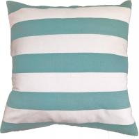 Quality Green Stripe Printed Pillow Cushion Covers , Decorative Pillow Covers for sale