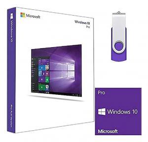 China 32 64 Bit Windows 10 Pro Retail Box 100% Online Activation With COA License Sticker on sale