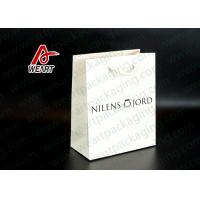 Quality Crafts Paper Personalized Store Bags , Glossy Business Paper Bags With Hot Foil LOGO for sale