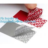 VOID Material Scotch Tape Label Warranty Void Non Removable Tamper Evident Honeycomb for sale