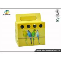 Buy cheap Colorful Printing Cardboard Gift Boxes Foldable Space Saving For Birds from wholesalers