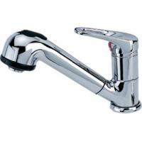 Quality One Handles Pull - Out Kitchen Mixed Faucets Finished By Chrome for sale