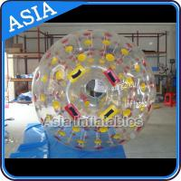 PVC / TPU Hand Art Work Color Dots Zorb Ball For Water Sports Games for sale