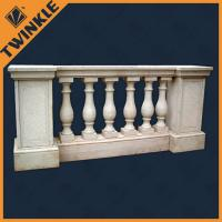 Quality Stone handrails carved white flooring marble balustrade natural custom for sale