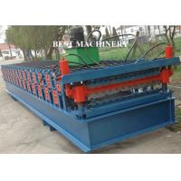 Quality Metal Roofing Sheet Roll Forming Machine Two Layer 4kw 3kw Power Blue Color for sale