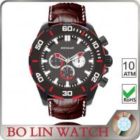 Elegant SS Ladies Sports Watches , Durable Mens Athletic Watches With Leather Bands