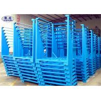 Buy cheap Heavy Duty Steel Stacking Racks Blue Metal 4 Layers For Crops Storage from wholesalers