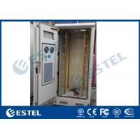 China Double Wall Outdoor Telecom Cabinet Galvanized Steel Front Access 19'' Floor Mount on sale