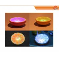 Quality Soft, warm glow Mini Orange shape Blue 3 LED Lamp, Led Night Lamps for home decoration for sale