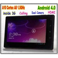 China Android 4.0 Inside 3G Tablet PC Built in 3G Calling Function Cortex A8 1.5GHz HDMI on sale