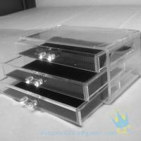Quality clear acrylic makeup storage box for sale