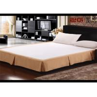 Quality Earthy Yellow Decorative Hotel Bed Skirts With 100% Polyester Queen Size for sale