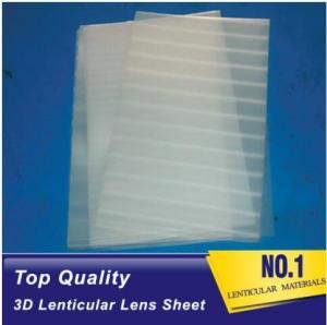 Quality Plastic Lenticular super transparent thin161lpi 0.25mm PET 3d lenticular lens plastic sheet film for UV offset prining for sale