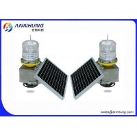 Quality SUS304 Stainless Steel Body 32.5cd Flashing LED Solar Powered Aviation Lights for sale