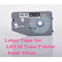 Quality 6mm Silver Label Maker Tape 20M p touch tape cassette for cable ID printer for sale