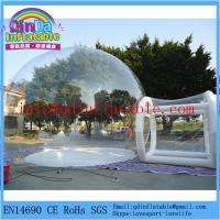 Quality Hot sale brand new install convenient transparent inflatable bubble tent for camping for sale