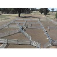 China Green Color Livestock Metal Fence Panels For Cattle / Horse / Sheep 6'H*8'L on sale