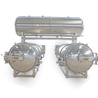 China 2 Autoclaves Parallel with Water Tank for Packaged Food & Canned Food on sale