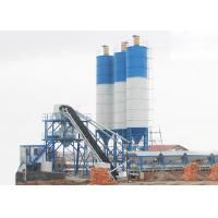 China Statinary Dry Ready Mix Concrete Plant 150m3/H Panel Computer Control With Belt Conveyor on sale