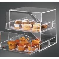 Quality 2 Tier Acrylic Bakery Display Case , Perspex Food Display Cabinets for sale