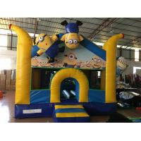 Quality Inflatable Minions Themed Kids Inflatable Bounce House With Digital Painting Adorable for sale