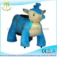 Quality Hansel plush animals motorized coin operated walking animal motorized animals for sale