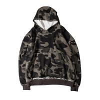 Quality wholesale high street fashion mens camo pullover fringe bottom hoodies for sale