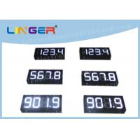Quality IP65 Waterproof Digital Gas Price Signs Customized Design Installation for sale