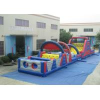 Quality Long Track Professional Bounce House , Commercial Obstacle Bouncy Castle Outdoor games Reliable inflatable for sale