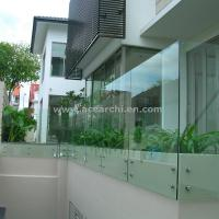 Buy cheap Customized Glass Decking Standoff Railing with Stainless Steel Handrail from wholesalers