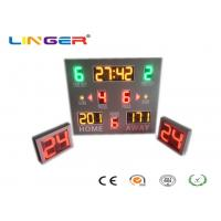 Quality Digital Wireless Control LED Basketball Scoreboard With Shot Clock In 3 kinds Of Colors for sale