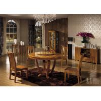 Quality Wooden dining set furniture round table/ wine cabinet/dining cabinet for sale