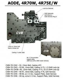 Quality Auto Transmission AODE 4R70W 4R75E 4R75W sdenoid valve body good quality used original parts for sale