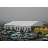 China 15m Arch Clear Span Tents With White ABS Wall For Luxury Party , Outside Event Tent on sale