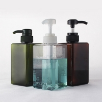 Quality SGS 4oz 200ml Amber Refillable PET Plastic Cosmetic Spray Bottles for sale