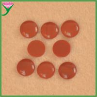 China Hot Sale cabochon flat bottom round synthetic red coral decorative glass gems for sale