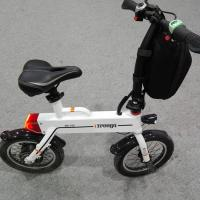 Quality Green 12 Inch Foldable Electric Scooter , Mini Smart Bike 25 km / h for sale