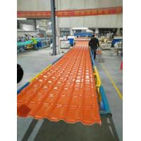 Quality Light Weight Orange Synthetic Resin Roof Tile 1050 mm Width / 2.3 mm Thickness for sale