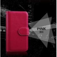 Quality Wrist Strip Leather Iphone 7 Wallet Case , Slim Crazy Horse Leather Wallet Case for sale