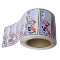 Quality Die Cut White PVC Self Adhesive Labels With Pantone Color Eco Friendly for sale