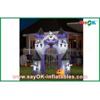Quality Double Stitch Inflatable Halloween Decorations / Castle Holiday Decoration for sale