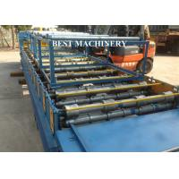 Buy Steel Roofing Sheet Roll Forming Machine With Cnc Hydraulic Press , Roofing Roll Formers at wholesale prices