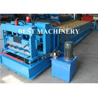 Quality Trapezoid Roof Tile Roll Forming Machine YX1100 Russian Type PPGI Material for sale