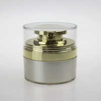 Quality Free sample 15g 30g 50g acrylic white and silver cosmetic cream airless jar for sale