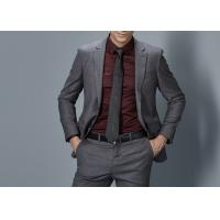 Quality Cotton Formal Male Grey 2 Piece Suit Two Straight Pockets S--XXXL Size Regular Fit for sale