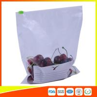 Quality Zipper Top Plastic Food Storage Bags With Slider , Airtight Storage Ziplock Bags for sale