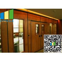 China Acoustic Rate 45 Db Commercial Sliding Doors Wall Partition 3.346 Inch Thickness on sale