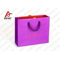 Quality Pink Holiday Goodie Christmas Paper Bags No Minimum Hot Foil LOGO for sale